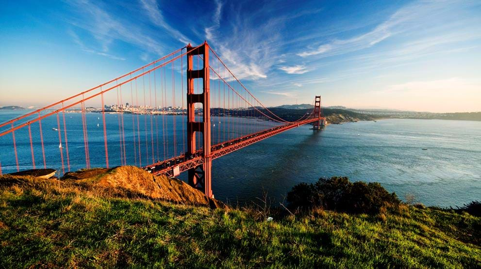 Golden Gate Bridge i San Francisco - Rejser til Californien