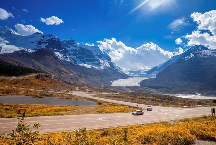 Columbia Icefields - Rocky Mountains Højdepunkter