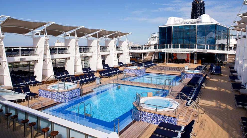 Pool ombord på Celebrity Solstice