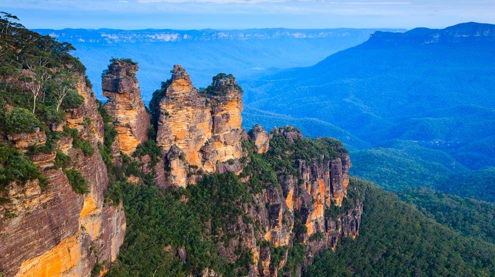 "Blue Mountains med ""the Three Sisters"" - Rejser til Australien"