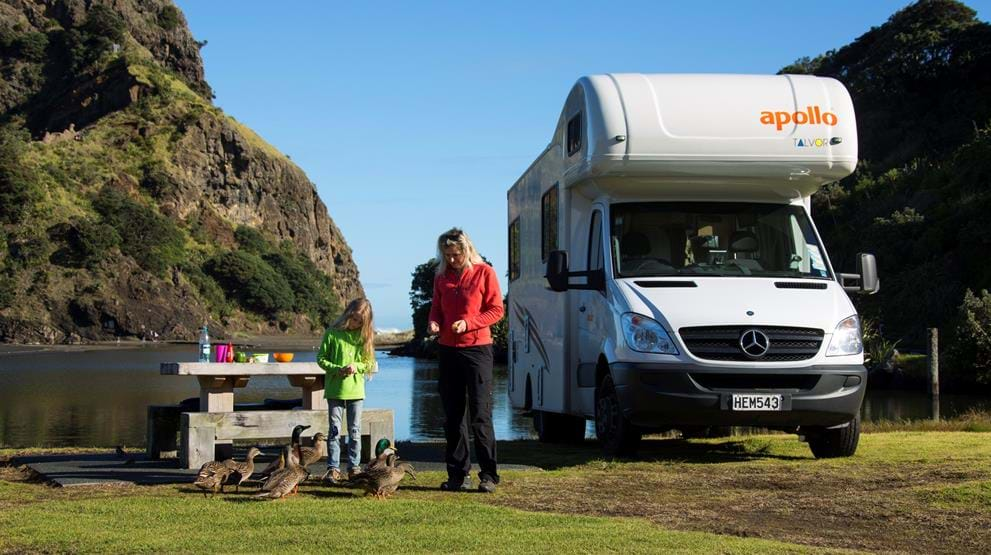 Familieferie i New Zealand med autocamper