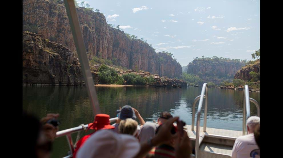 Flodcruise ved Katherine Gorge. Foto: Great Southern Railroad